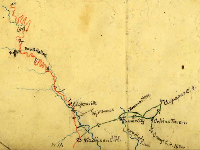 Hotchkiss Map 105 of Blue Ridge Turnpike