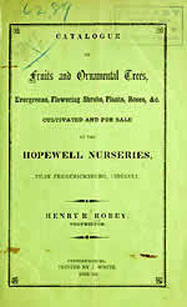 Hopewell Nursery Catalog 1859
