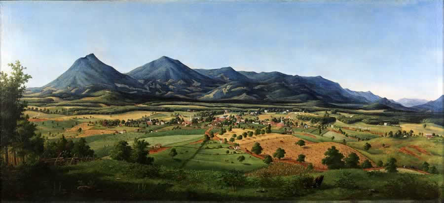 Painting by Edward Beyer, 1855, Peaks of Otter
