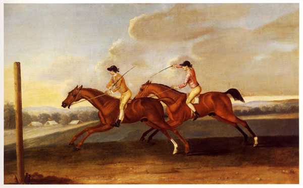 Painting of Virginian Quarter Race
