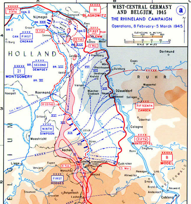 Map of Operation Grenade