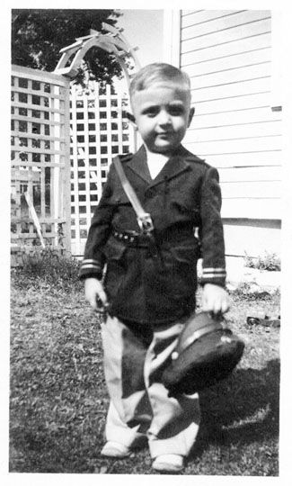 Billy in Army uniform age 3 1/2