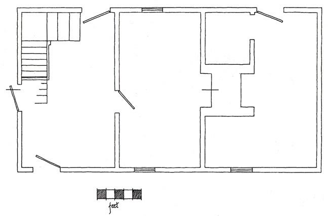 Drawing of Room Plan of Lesser Darby House