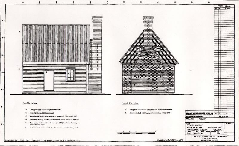Survey Drawing of Pear House
