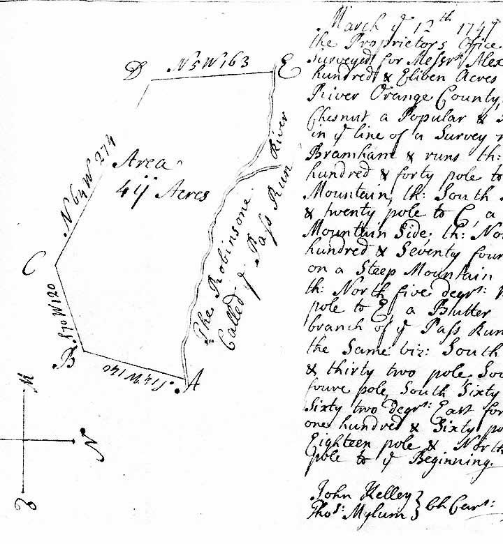 Image of Campbell Survey 12 March 1747